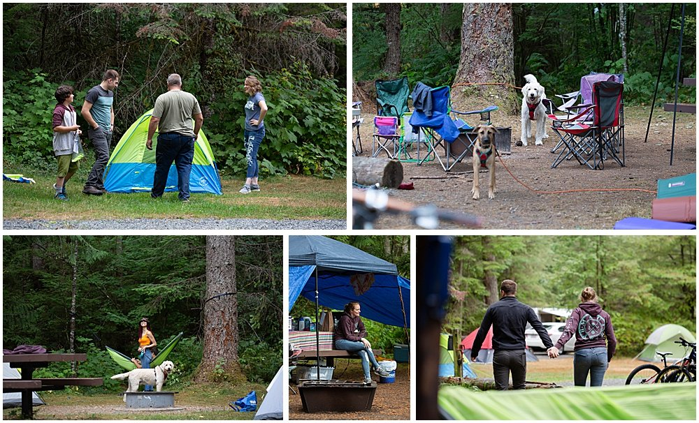 Camping in the rain with kids can still be fun.